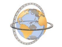 jordklotvärld Arkivfoton