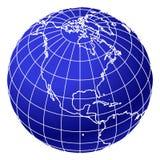 jordklotvärld för 2 blue Arkivfoto