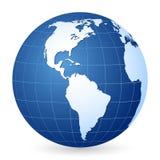 jordklotvärld för 2 blue Arkivbilder
