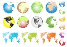 jordklotvektor vektor illustrationer