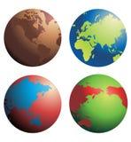 jordklotvektor royaltyfri illustrationer
