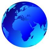 jordklotvektorvärld Arkivfoto
