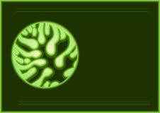 Jordkort Leaf2 royaltyfri illustrationer