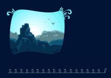 Jordkortlandskap stock illustrationer