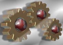 jordkugghjulhjul vektor illustrationer