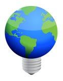 Jordlightbulb Arkivbild