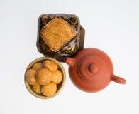 Jordnötkakor eller kinesiska traditionella jordnötkakor på en backgr Fotografering för Bildbyråer