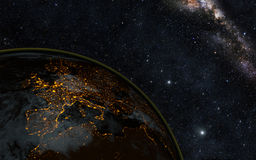 Jordnatt Arkivbild