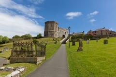 Jordning av domkyrkan Pembrokeshire Wales för St Davids Arkivbilder