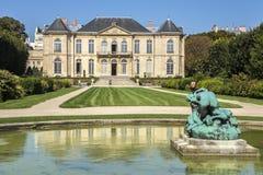 Jordning av Rodin Museum i Paris, Frankrike, Europa royaltyfri bild