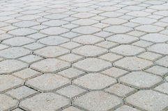 Jordning belägger med tegel former, dekorativ trottoar Royaltyfri Foto