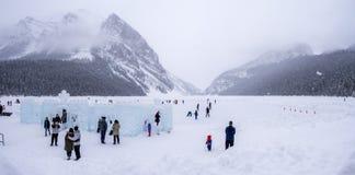 Jordning på chateauen Lake Louise i Banff Royaltyfri Foto