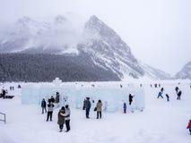 Jordning på chateauen Lake Louise i Banff Royaltyfria Foton