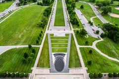 Jordning på Liberty Memorial i Kansas City Missouri Royaltyfria Foton
