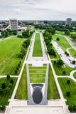 Jordning på Liberty Memorial i Kansas City Missouri royaltyfri foto