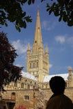 Jordningen av den Norwich domkyrkan fotografering för bildbyråer