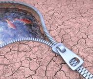 Jordningsvatten Arkivfoto