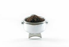 jordnintt lockkaffe framställning av droppandevatten fotografering för bildbyråer