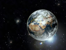 jordplanet vektor illustrationer