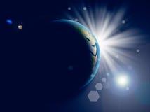 jordplanet royaltyfri fotografi