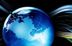 Jordplanet, genomskinligt jordklot för bakgrund Royaltyfri Fotografi
