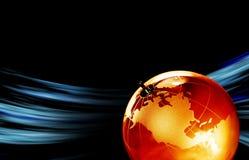 Jordplanet, genomskinligt jordklot för bakgrund Royaltyfri Bild