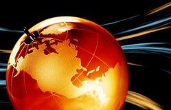 Jordplanet, genomskinligt jordklot för bakgrund Fotografering för Bildbyråer