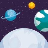 jordplanetdesign vektor illustrationer
