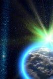 jordplanetsun royaltyfri fotografi