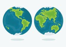 Jordplanetsymbol stock illustrationer