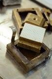 Jordprövkopia som testas i en direkt saxask för felressistance Royaltyfria Foton