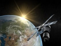 jordsatellit vektor illustrationer