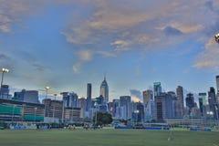 Jordsikt för lycklig dallek av Wan Chai Royaltyfria Bilder