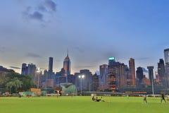 Jordsikt för lycklig dallek av Wan Chai Arkivfoto