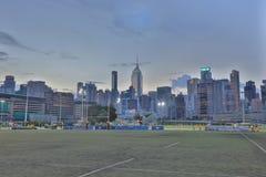 Jordsikt för lycklig dallek av Wan Chai Arkivbild