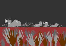 jordskalv haiti stock illustrationer