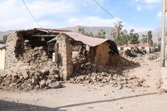 Jordskalv i den Colca kanjonen, Peru Arkivfoto
