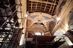 Jordskalv i min kyrka Royaltyfria Bilder