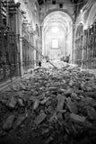 Jordskalv i min kyrka Royaltyfri Bild