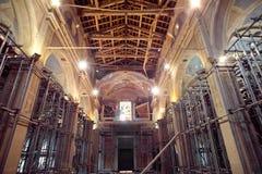 Jordskalv i min kyrka Royaltyfri Fotografi