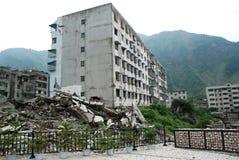 Jordskalvet förstör Fotografering för Bildbyråer