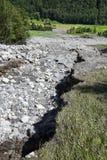 Jordskred på Engelberg Royaltyfri Foto