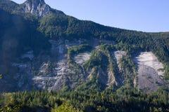 Jordskredet av Monte Toc, Casso, Pordenone, Italien Arkivfoto
