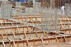 Jordstrålformarbete på konstruktionsplatsen Arkivfoto