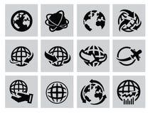 Jordsymboler vektor illustrationer