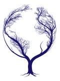 Jordträd stock illustrationer