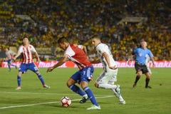Jorge Benitez napadanie podczas Copa Ameryka Centenario Obraz Stock
