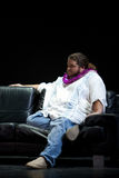Jorge Garcia. As Hurley Reyes of LOST,  on stage at the Royal Hawaiian Theater, Honolulu, Hawaii, after the hit TV show has received the 2009 Hawaii Royalty Free Stock Image