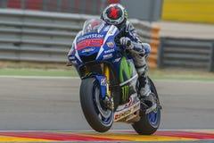 Jorge Lorenzo Ομάδα Yamaha Movistar Grand Prix Movistar Aragà ³ ν Στοκ φωτογραφία με δικαίωμα ελεύθερης χρήσης