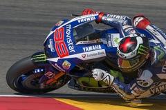 Jorge Lorenzo Ομάδα Yamaha Movistar Grand Prix Movistar Aragà ³ ν Στοκ Εικόνες